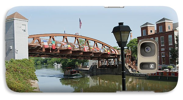 Galaxy Case featuring the photograph Fairport Lift Bridge by William Norton