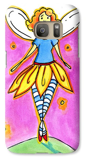 Galaxy Case featuring the mixed media Fairy Note by Nada Meeks