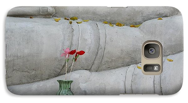 Galaxy Case featuring the photograph Fall Buddha #1 by Nola Lee Kelsey