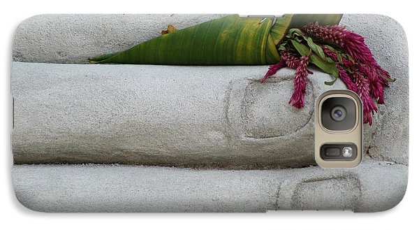 Galaxy Case featuring the photograph Fall Buddha #2 by Nola Lee Kelsey