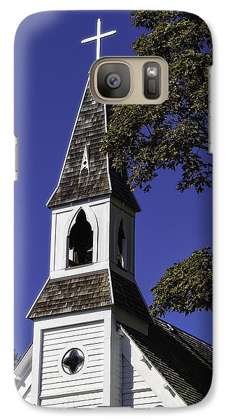 Galaxy Case featuring the photograph Fall Chapel by Ken Stanback