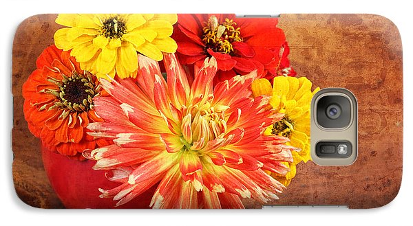 Galaxy Case featuring the photograph Fall Flower Arrangement by Verena Matthew
