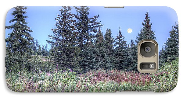 Galaxy Case featuring the photograph Fall Moon by Michele Cornelius
