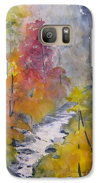 Galaxy Case featuring the painting Fall Mountain Stream by Gretchen Allen