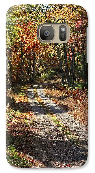 Galaxy Case featuring the photograph Fall On The Wyrick Trail by Denise Romano