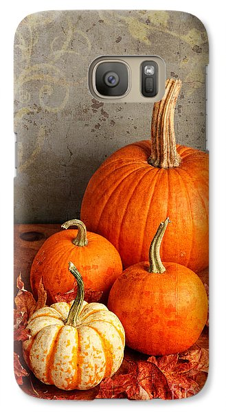 Galaxy Case featuring the photograph Fall Pumpkin And Decorative Squash by Verena Matthew