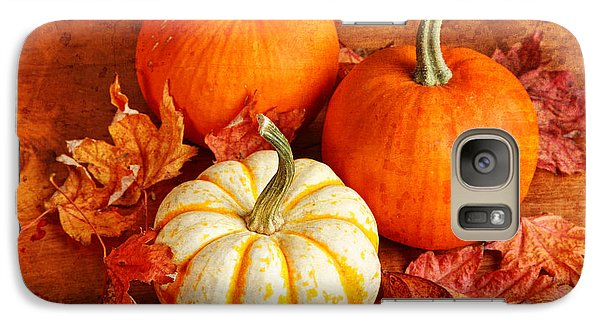 Galaxy Case featuring the photograph Fall Pumpkins And Decorative Squash by Verena Matthew