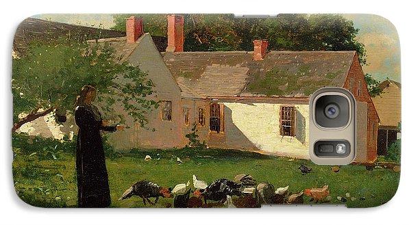Farmyard Scene Galaxy Case by Winslow Homer