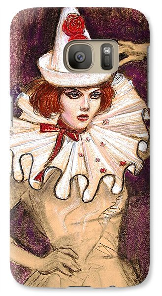Galaxy Case featuring the drawing Fashion Clown by Sue Halstenberg
