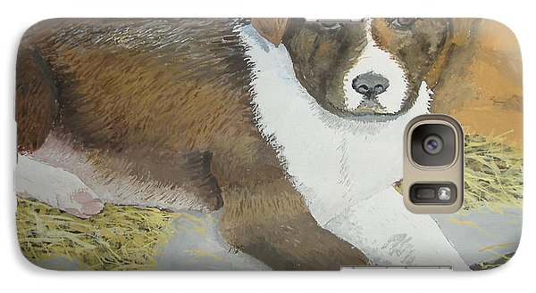 Galaxy Case featuring the painting Fat Puppy by Norm Starks
