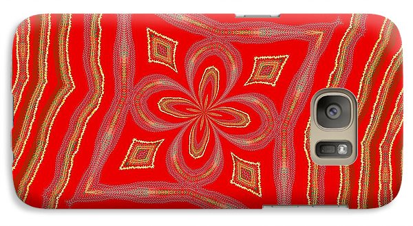 Galaxy Case featuring the digital art Favorite Red Pillow by Alec Drake