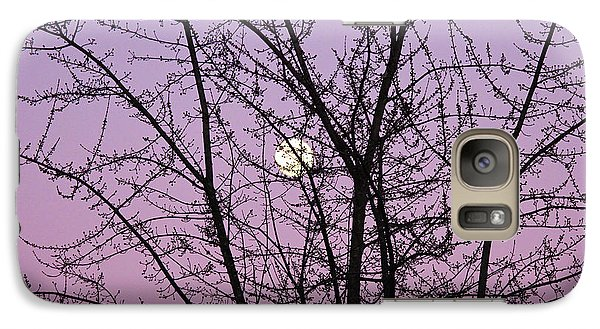 Galaxy Case featuring the photograph February's Full Moon by Rachel Cohen