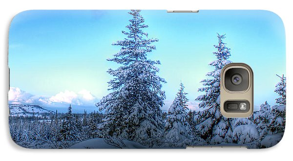 Galaxy Case featuring the photograph Feeling Blue by Michele Cornelius