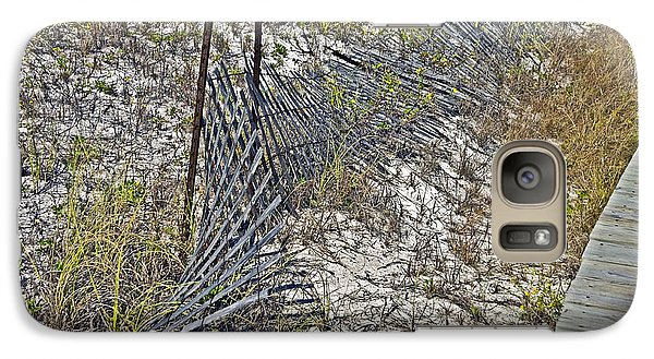 Galaxy Case featuring the photograph Fence And Boardwalk by Susan Leggett