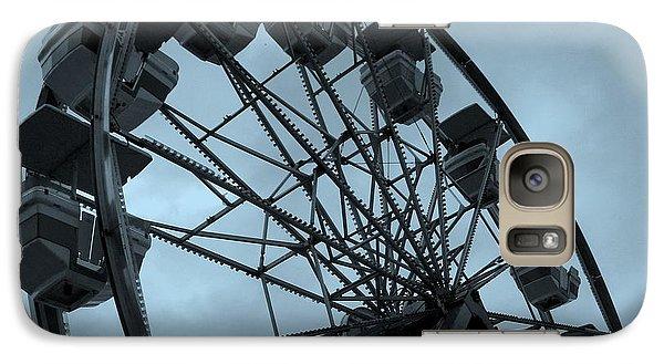 Galaxy Case featuring the photograph Ferris Wheel Blue Sky by Ramona Johnston