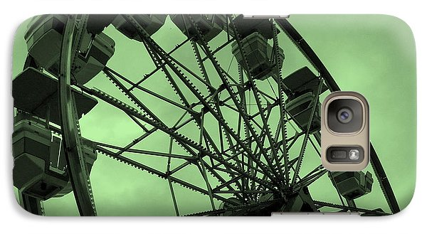 Galaxy Case featuring the photograph Ferris Wheel Green Sky by Ramona Johnston