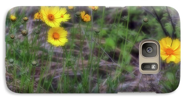 Galaxy Case featuring the photograph Field Flowers by Joan Bertucci