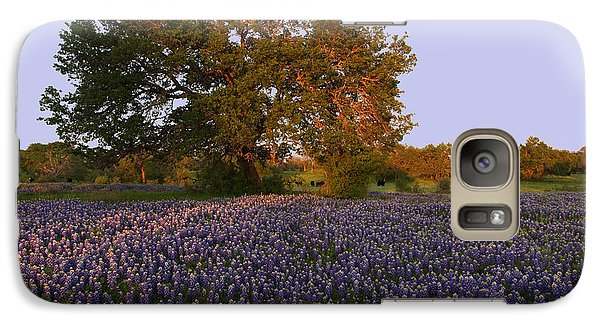 Galaxy Case featuring the photograph Field Of Blue by Susan Rovira