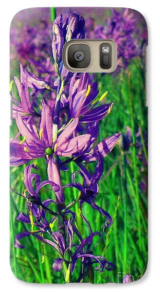 Galaxy Case featuring the photograph Field Of Camas In Oregon by Mindy Bench
