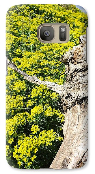 Galaxy Case featuring the photograph Field Of Flowers 1 by Gerald Strine