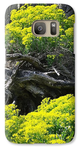 Galaxy Case featuring the photograph Field Of Flowers 2 by Gerald Strine