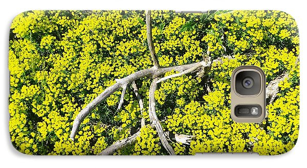 Galaxy Case featuring the photograph Field Of Flowers 3 by Gerald Strine