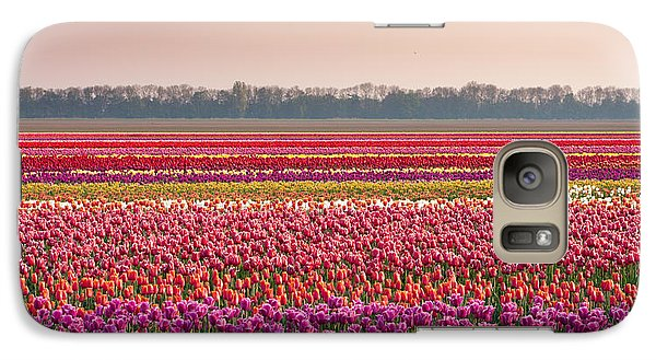 Galaxy Case featuring the photograph Field With Tulips by Hans Engbers