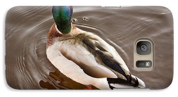 Galaxy Case featuring the photograph Fine Feathered Mallard Duck by Ann Murphy