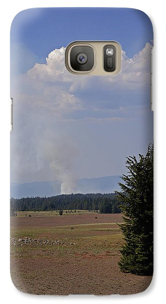 Galaxy Case featuring the photograph Fire In The Cascades by Mick Anderson