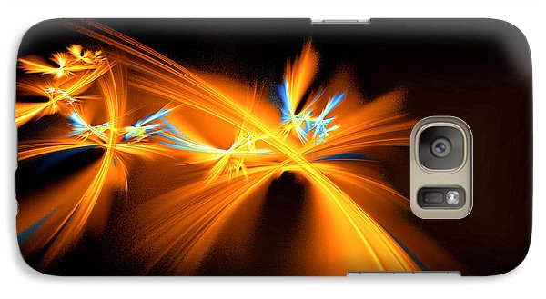 Galaxy Case featuring the digital art Fireflies by Victoria Harrington