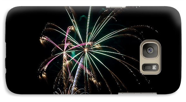 Galaxy Case featuring the photograph Fireworks 11 by Mark Dodd