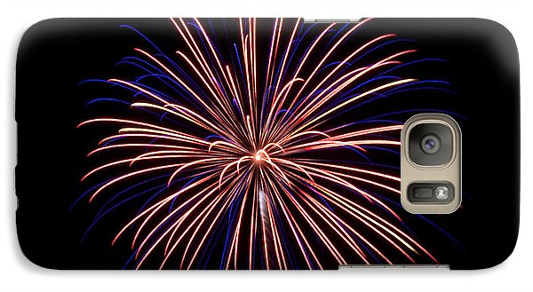 Galaxy Case featuring the photograph Fireworks 7 by Mark Dodd