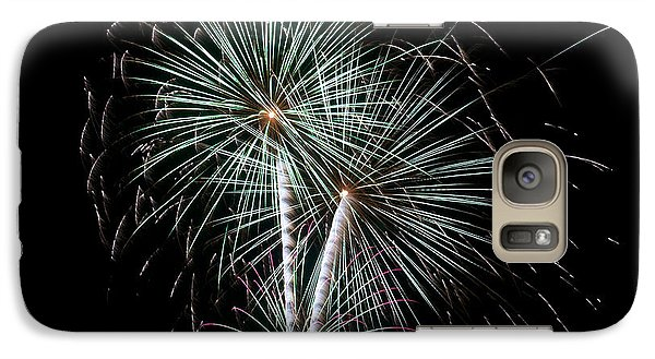 Galaxy Case featuring the photograph Fireworks 8 by Mark Dodd