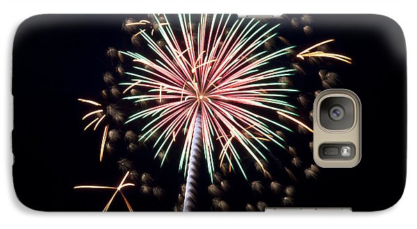 Galaxy Case featuring the photograph Fireworks 9 by Mark Dodd