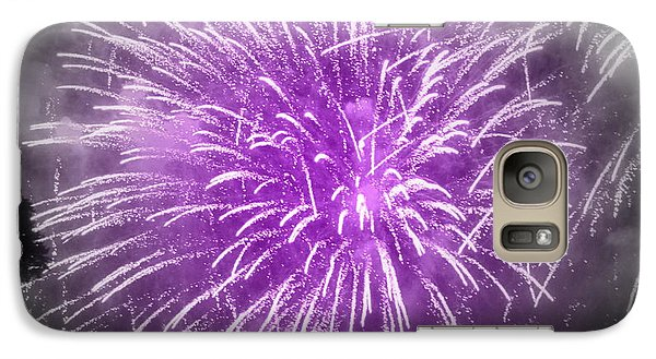 Galaxy Case featuring the photograph Fireworks In Mauve by France Laliberte