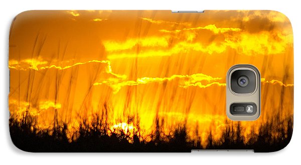 Galaxy Case featuring the photograph Firey Sunset by Shannon Harrington