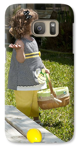 Galaxy Case featuring the photograph First Easter Egg Hunt by Steven Sparks