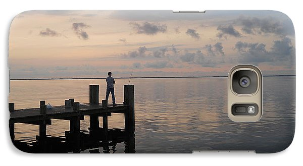 Galaxy Case featuring the photograph First Light by Clara Sue Beym