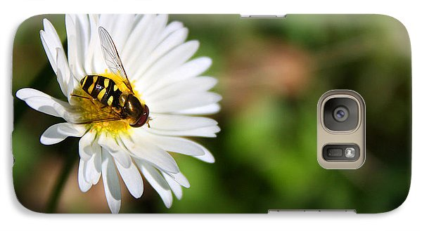 Galaxy Case featuring the photograph First Spring Bee by Tyra  OBryant