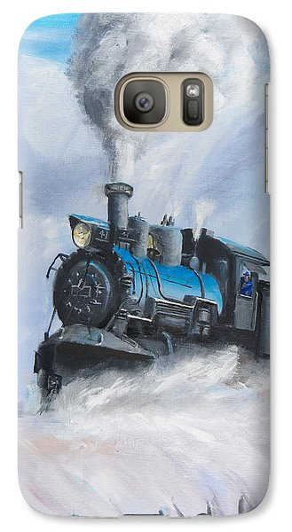 Train Galaxy S7 Case - First Train Through by Christopher Jenkins