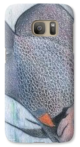 Galaxy Case featuring the drawing Fish - Aceo by Ana Tirolese