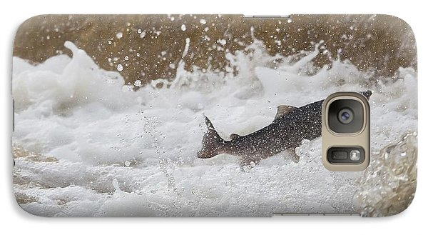 Galaxy Case featuring the photograph Fish Jumping Upstream In The Water by John Short