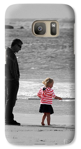 Galaxy Case featuring the photograph Fish With Me Daddy by Terri Waters