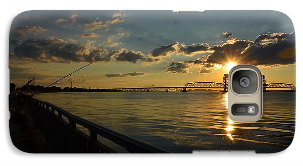 Galaxy Case featuring the photograph Fisherman Jamaica Bay by Maureen E Ritter