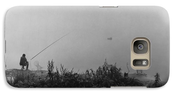 Galaxy Case featuring the photograph Fishin On The Rhine by Bob Wall