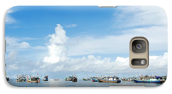Galaxy Case featuring the photograph Fishing Boat by Yew Kwang