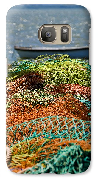 Galaxy Case featuring the photograph Fishing Nets by Trevor Chriss