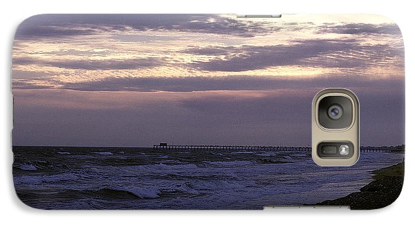 Galaxy Case featuring the photograph Fishing Pier Before The Storm 14a by Gerry Gantt