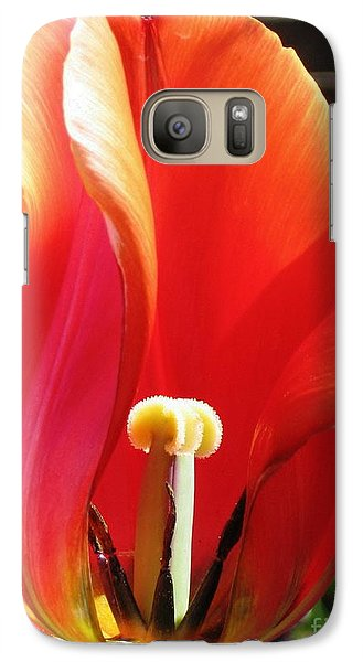 Galaxy Case featuring the photograph Flame by Rory Sagner