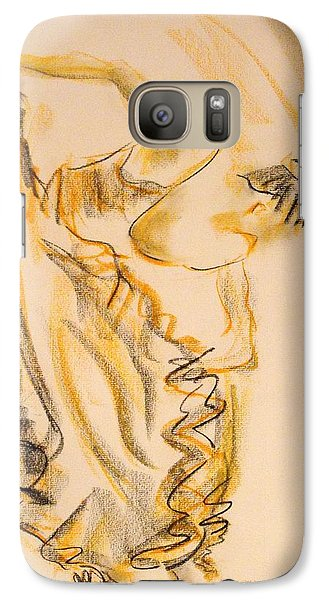 Galaxy Case featuring the painting Flamenco Dancer 2 by Koro Arandia